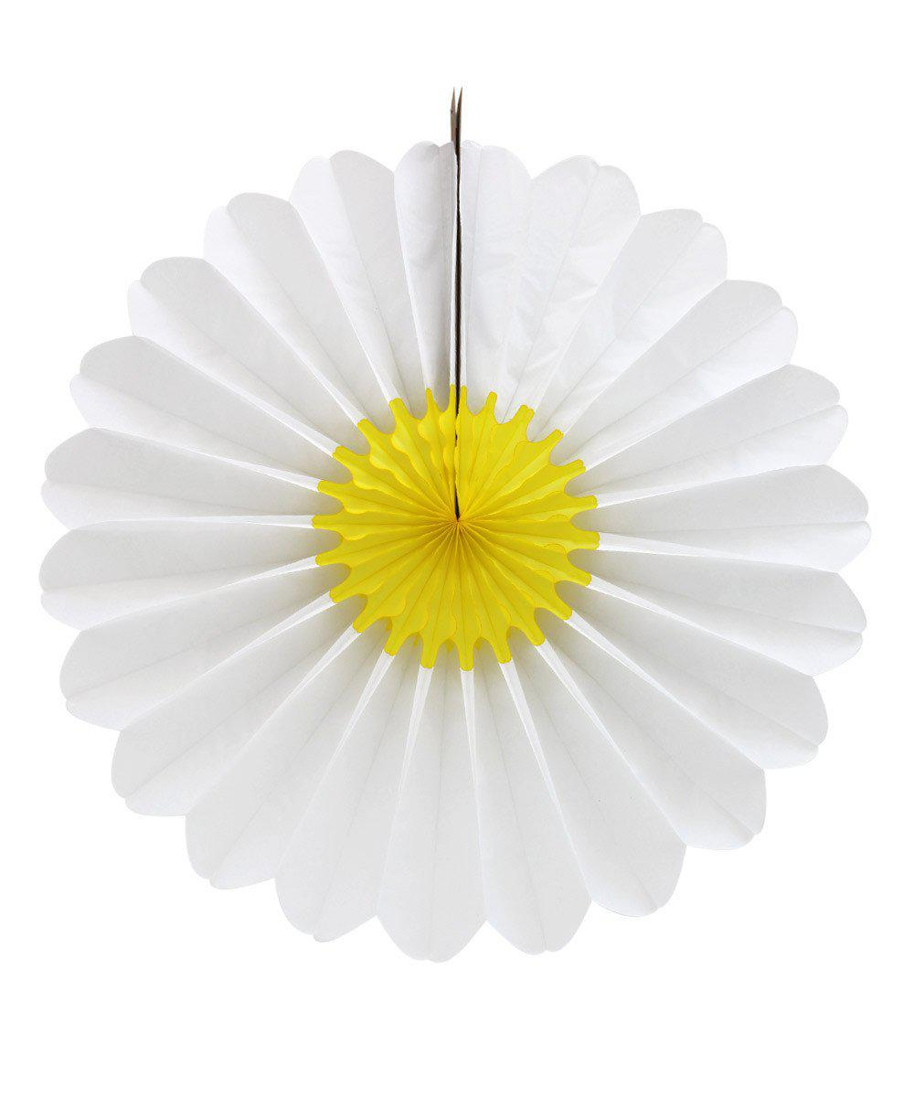 Tissue Paper Daisy Fan 27""