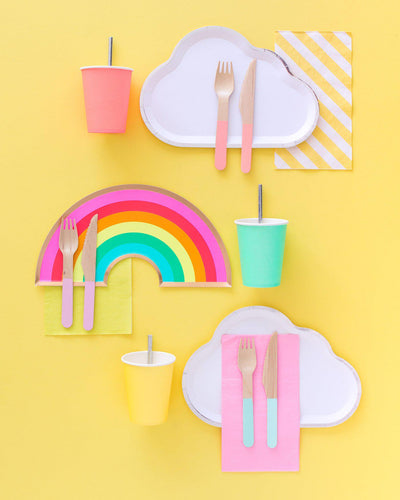Color Block Wood Cutlery