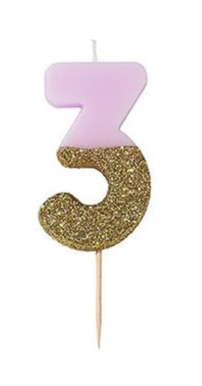 Pastel Number Candles