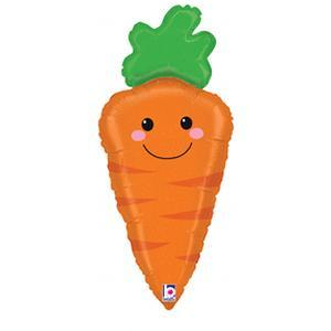 Mylar Smiley Carrot Balloon
