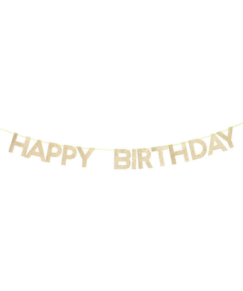 Gold Glitter Birthday Garland