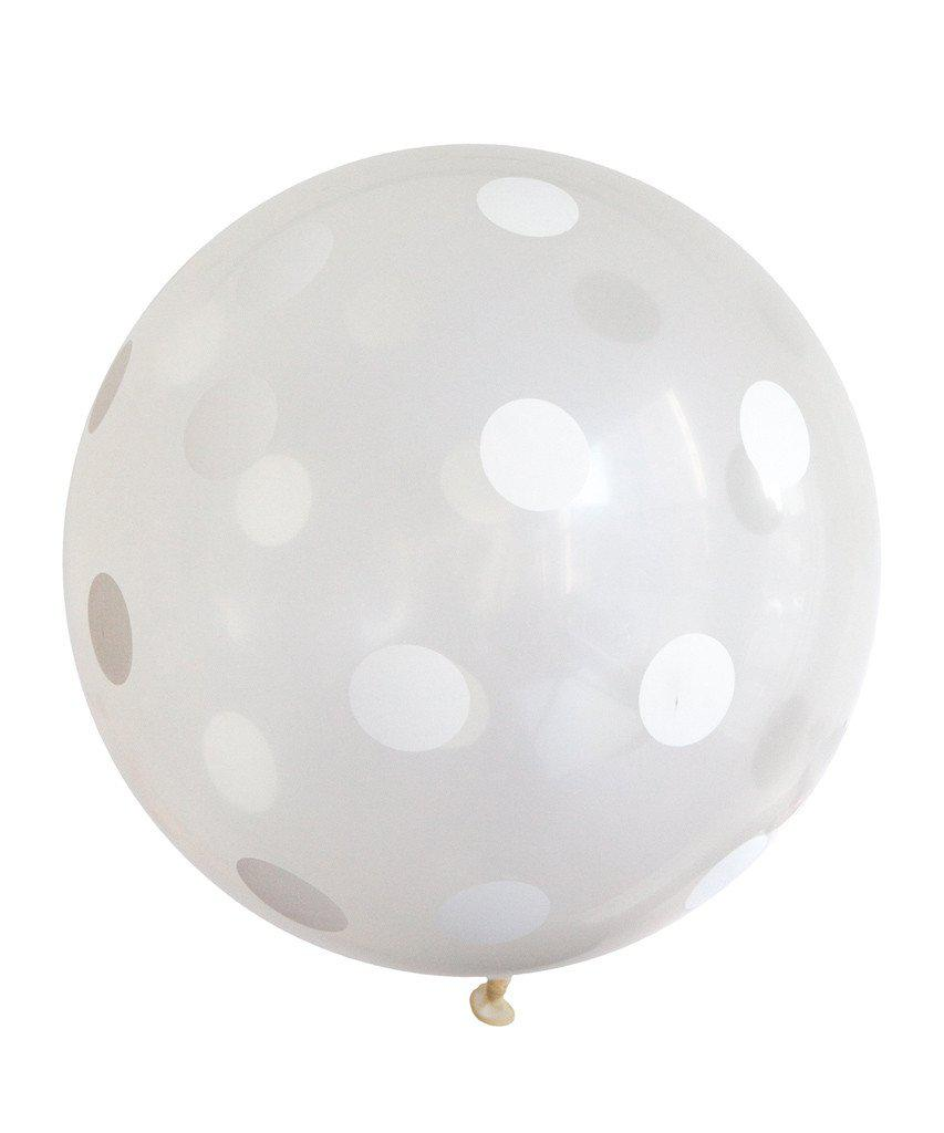 3' Clear Polka Dot Balloon