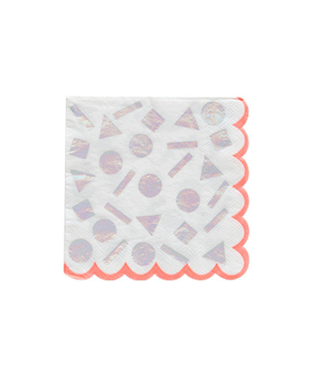 Iridescent Confetti Napkins (Small)