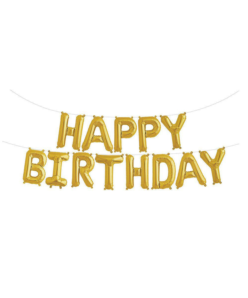 "Mylar 16"" Happy Birthday Balloon Banner"
