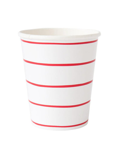 Frenchie Striped Cups