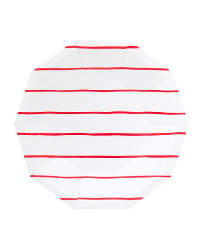 Frenchie Striped Plates (Large)