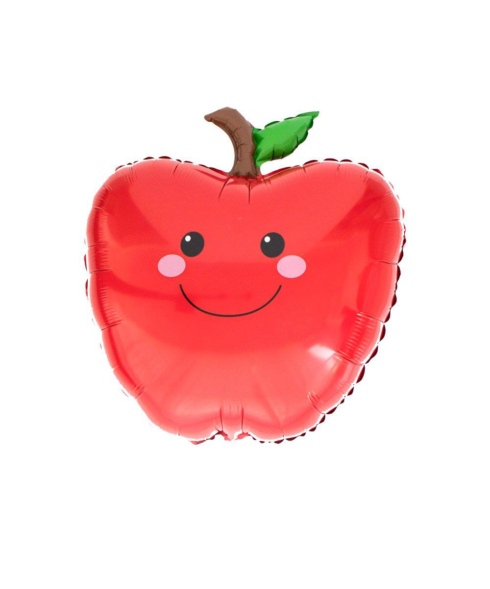 Mylar Smiley Apple Balloon