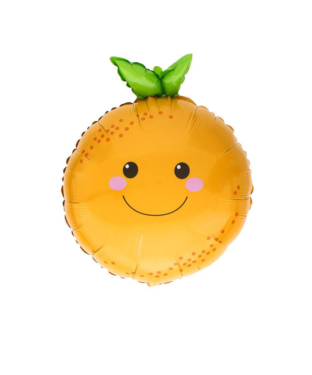Mylar Smiley Orange Balloon