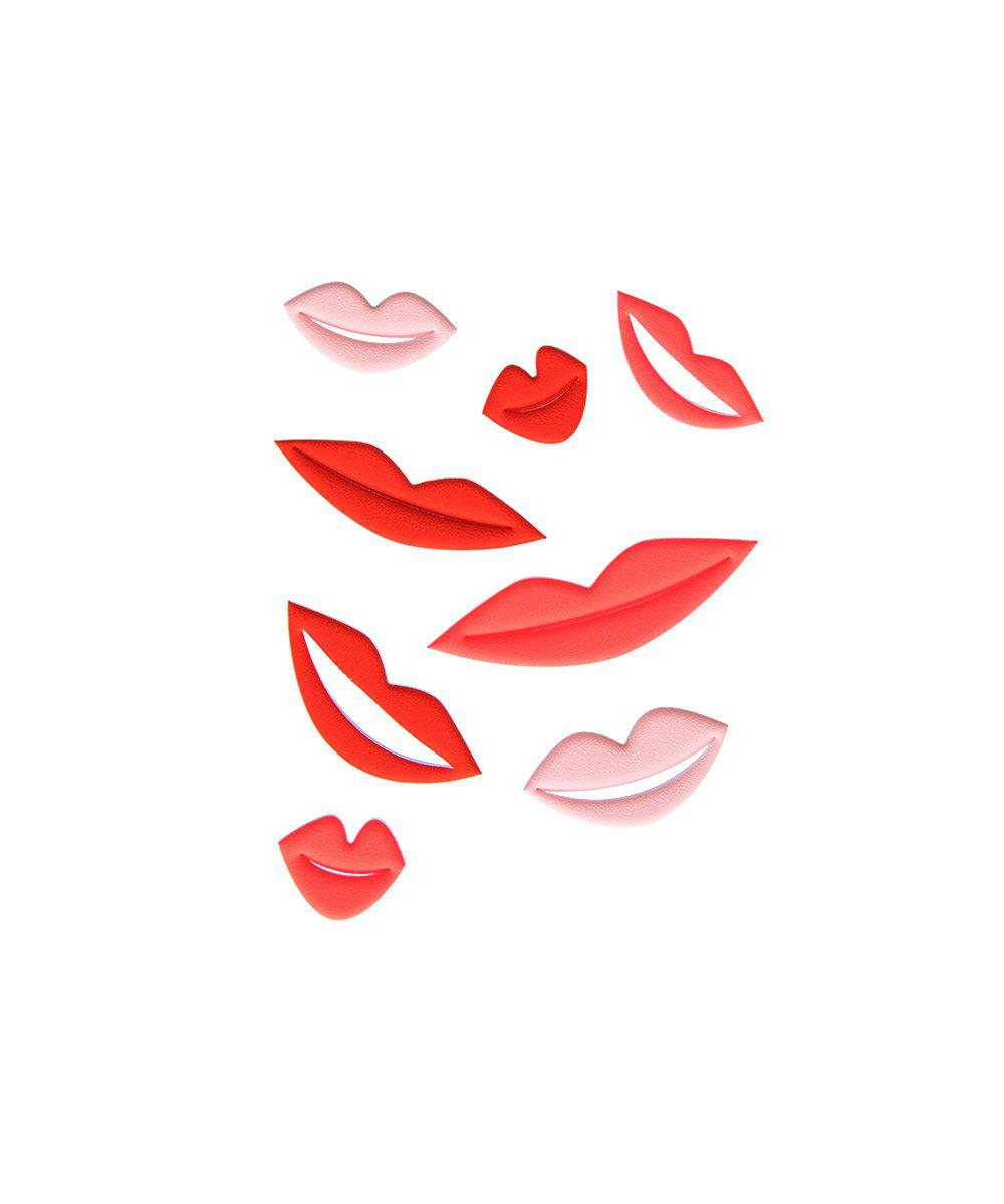 Puffy Lips Stickers