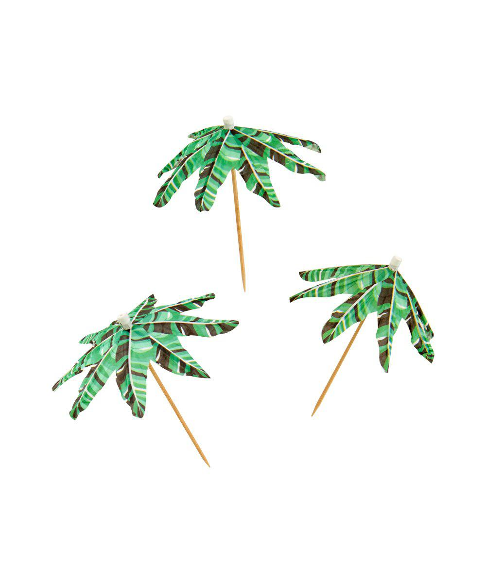 Banana Palm Umbrella Picks