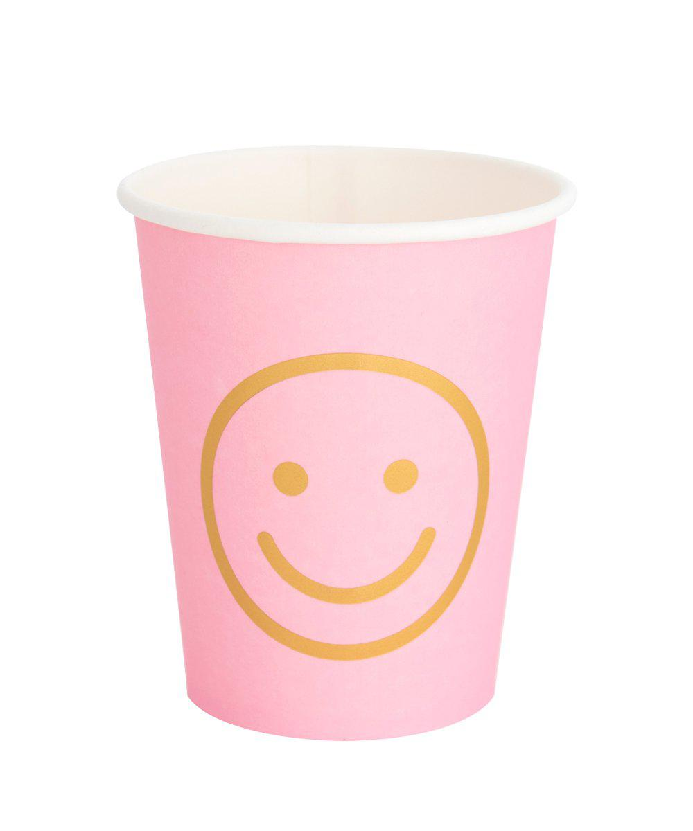 Oh Happy Day Blush Smiley Cups