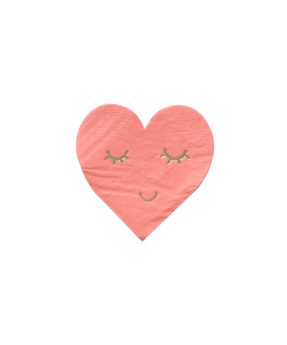 Smiling Heart Napkins