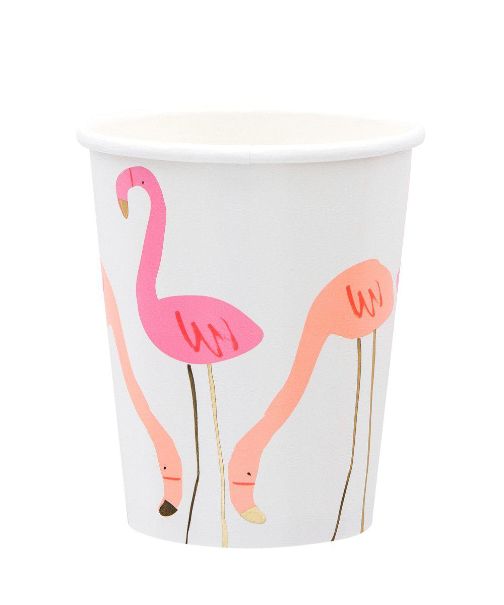 Neon Flamingo Cups