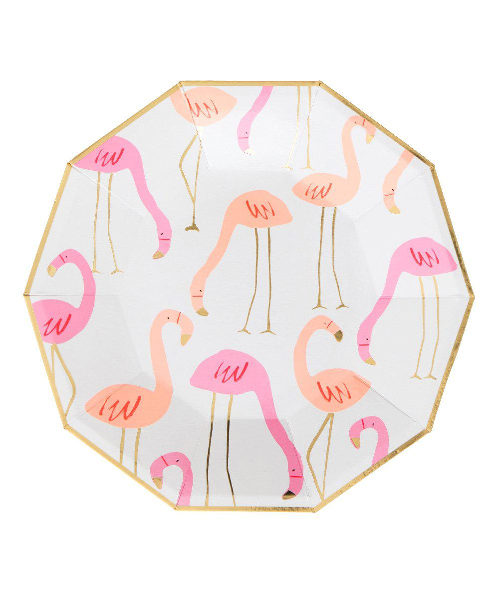 Neon Flamingo Plates (Large)