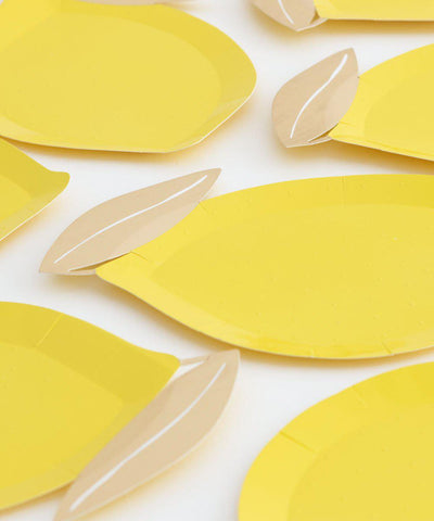 Lemon Shape Plates