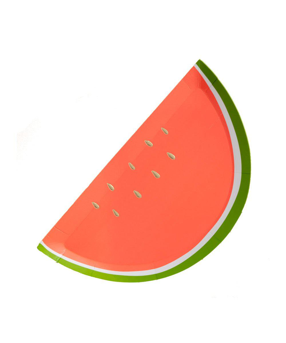 Watermelon Shape Plates