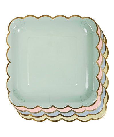 Pastel Scallop Plates (Large)