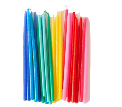 Rainbow Taper Candles