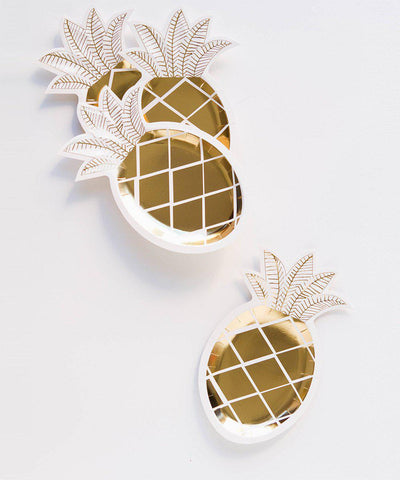 Metallic Pineapple Plates