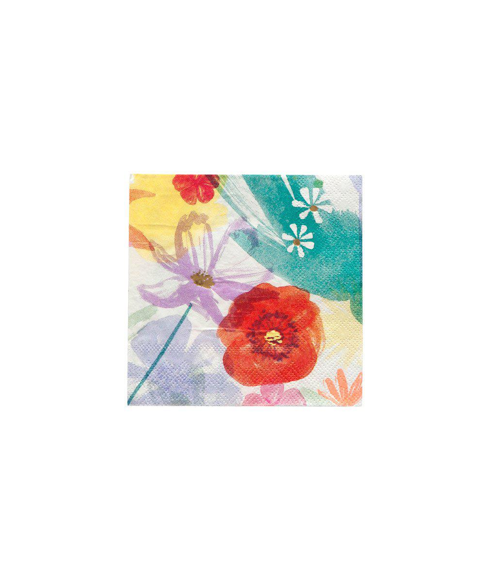 Painted Floral Party Napkins (Small)
