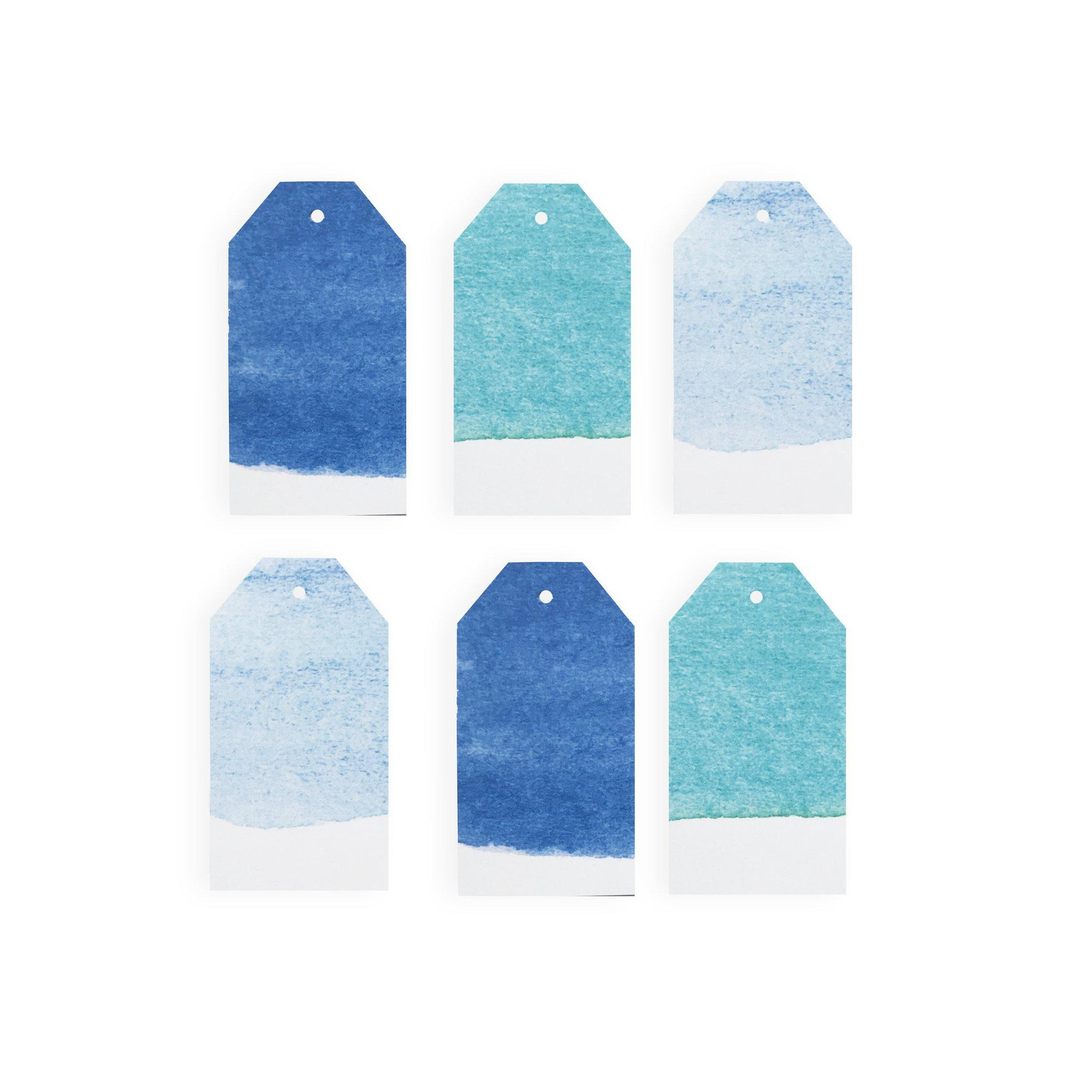 Cool Watercolor Gift Tag Set