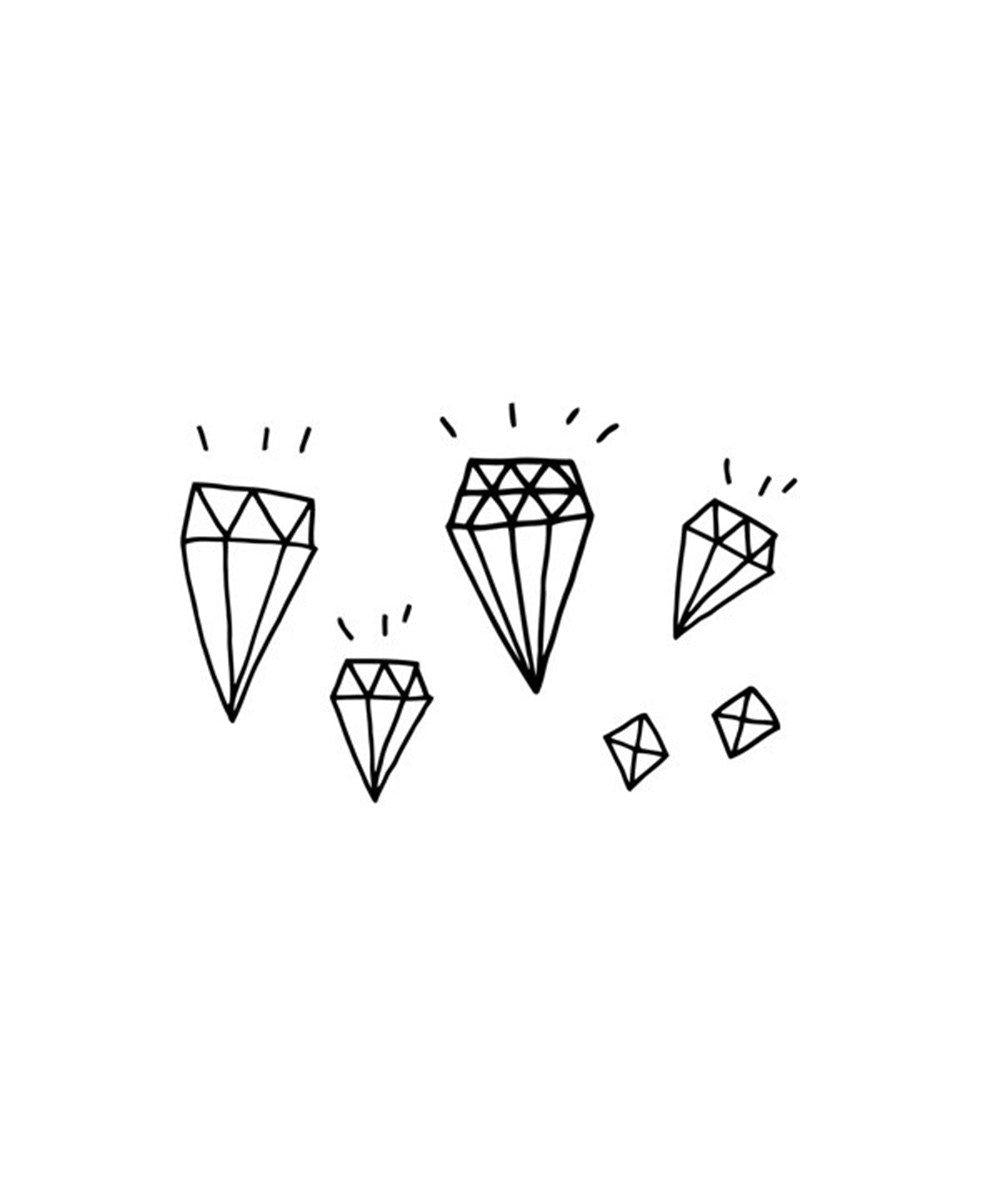Temporary Tattoos: Diamonds
