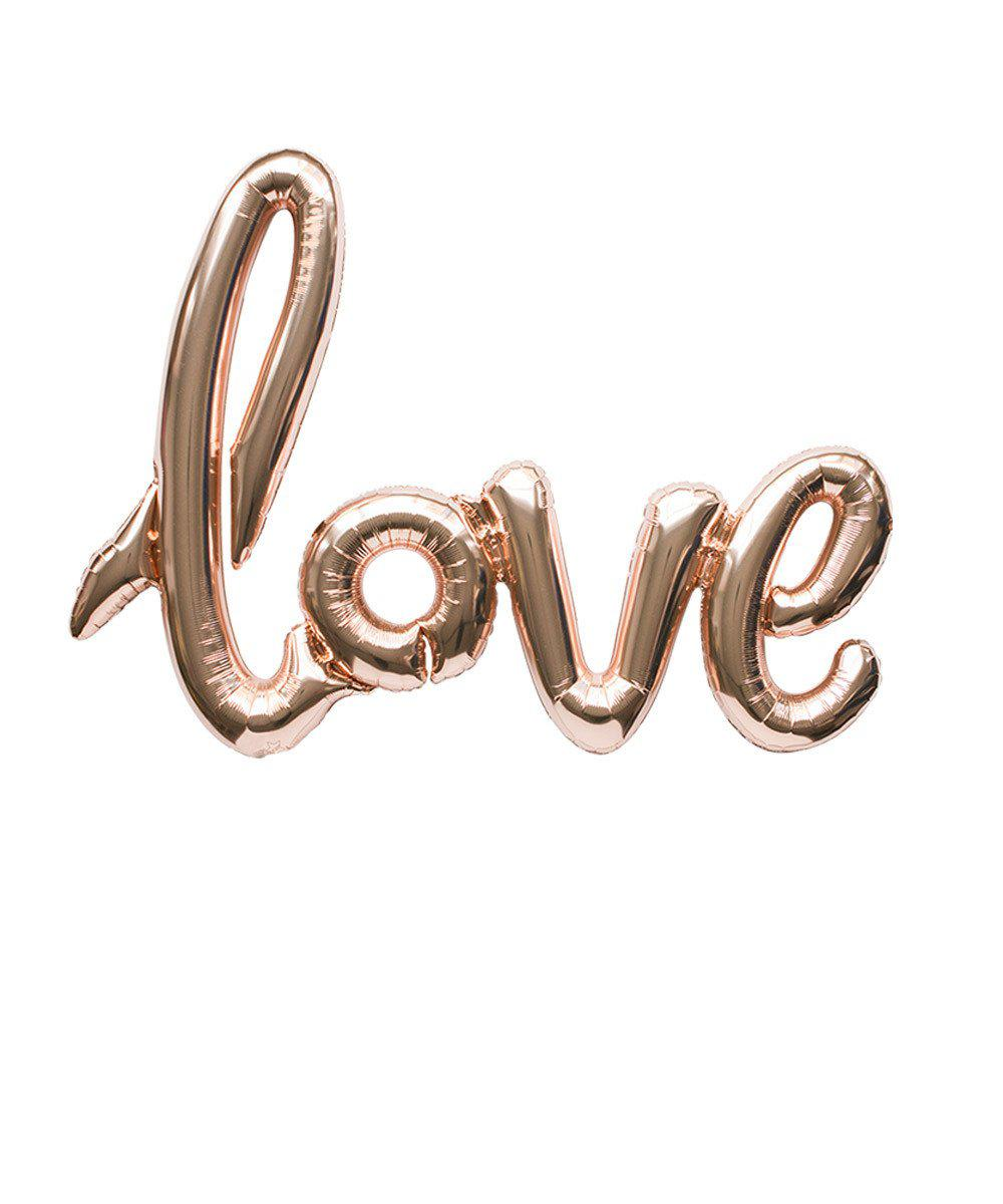 "Mylar Script Balloon ""Love"""