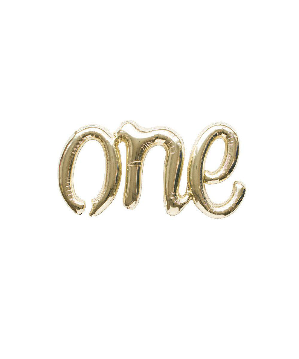 "Mylar Script Balloon ""One"""