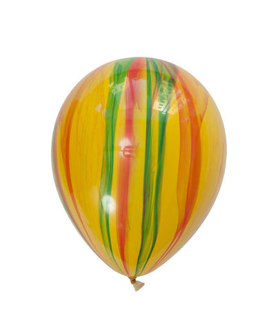yellow green and red marble balloon