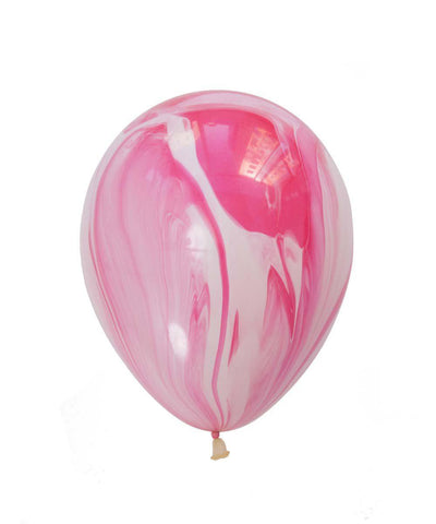 pink and red marble balloon