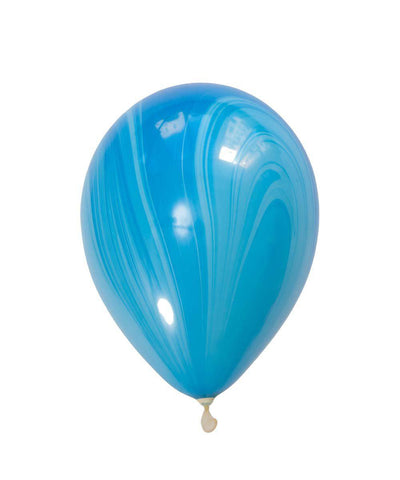 aqua and teal marble balloon