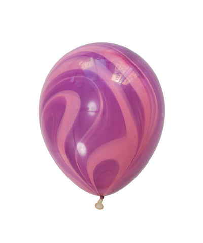 Purple and Red Marble Balloon