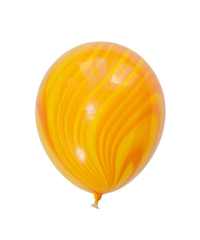 Yellow and Orange Marble Balloon