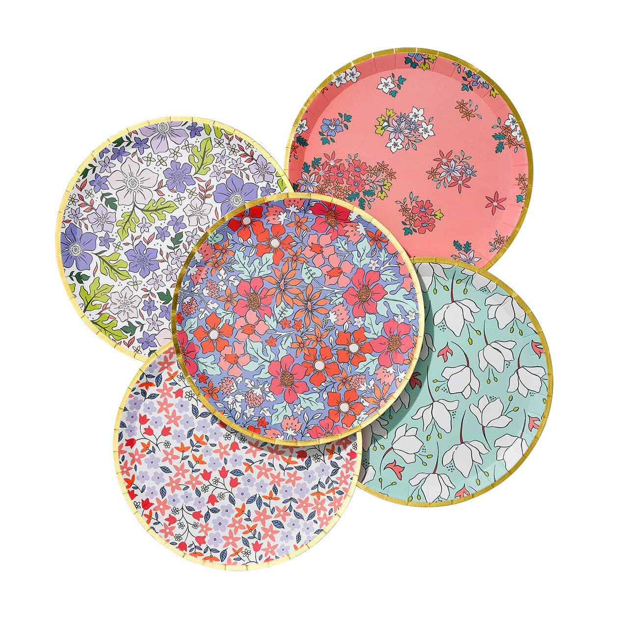 In Full Bloom Large Plates (10 Count)