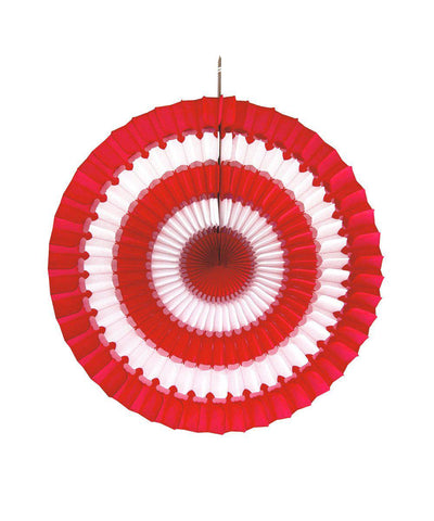 Tissue Paper Fan Striped 16""