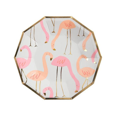 Neon Flamingo Plates (Small)