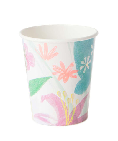 Painted Flower Cups