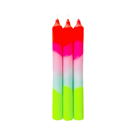 Neon Taper Candles
