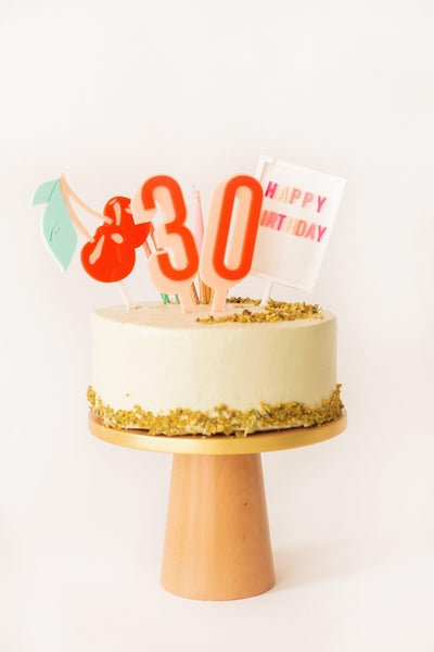 Ombre Happy Birthday Cake Toppers