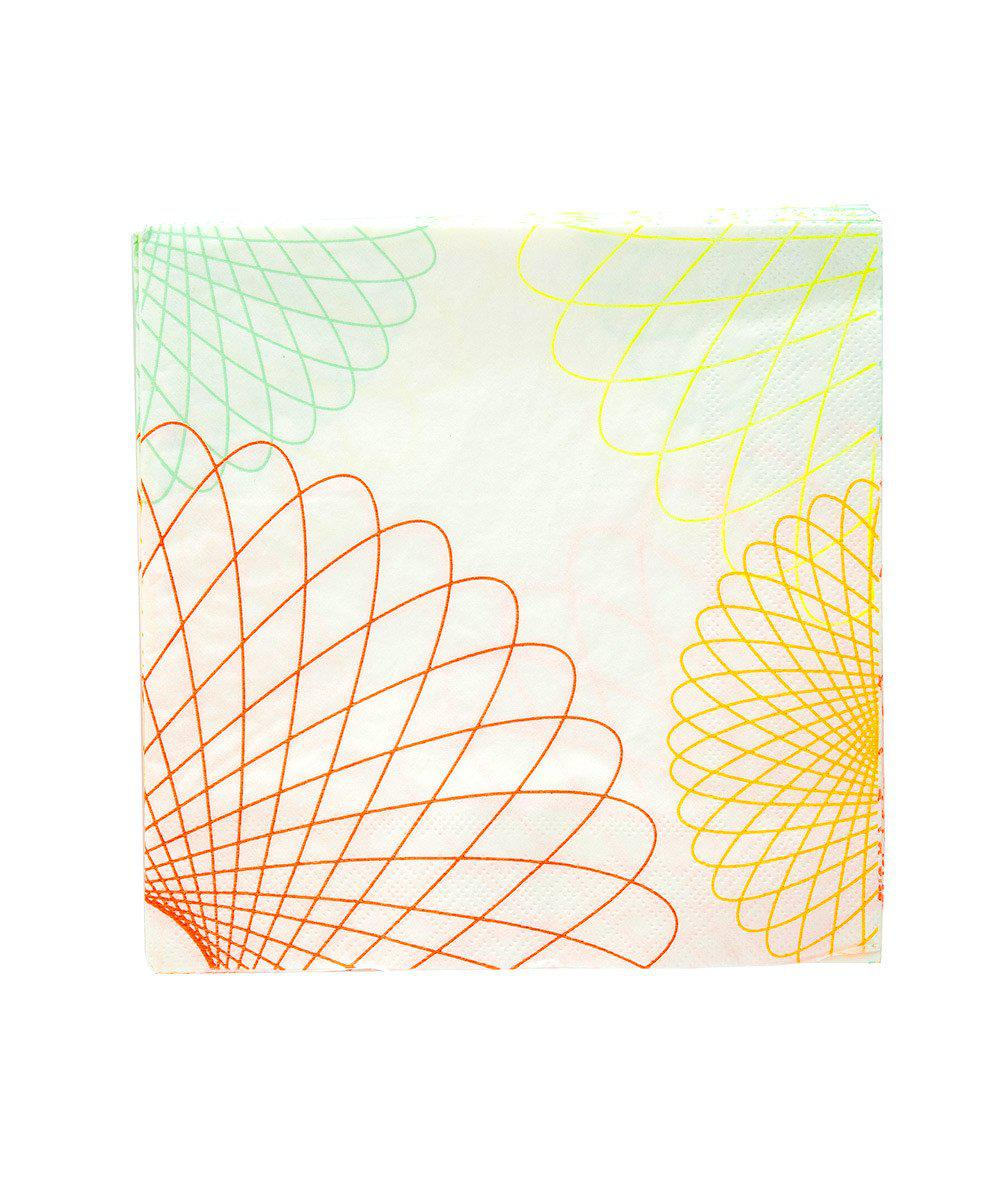 Neon Spiro Party Napkins (Large)