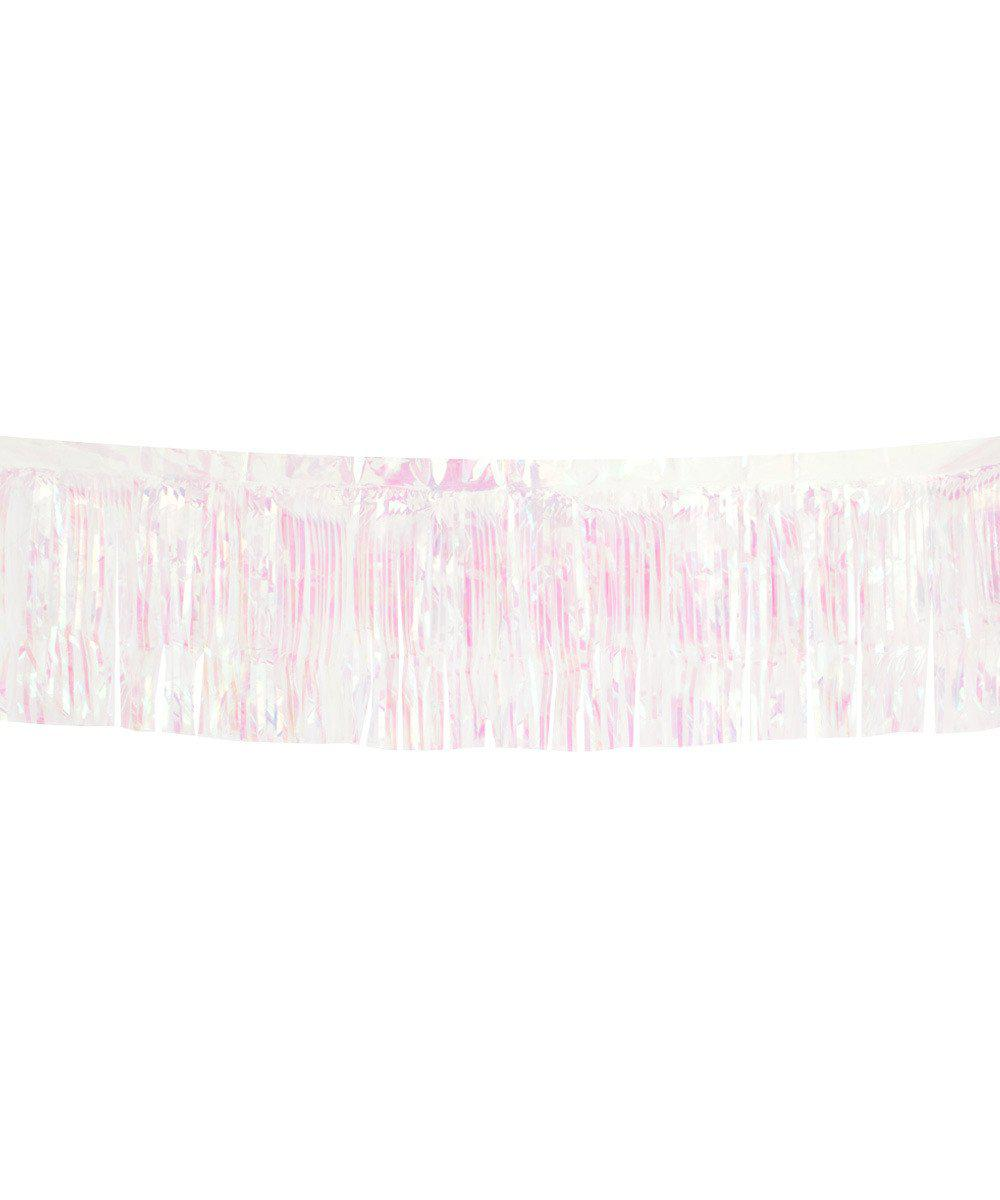 Metallic Fringe Garland Iridescent