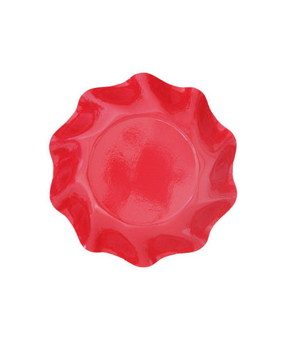 Red plate bowl