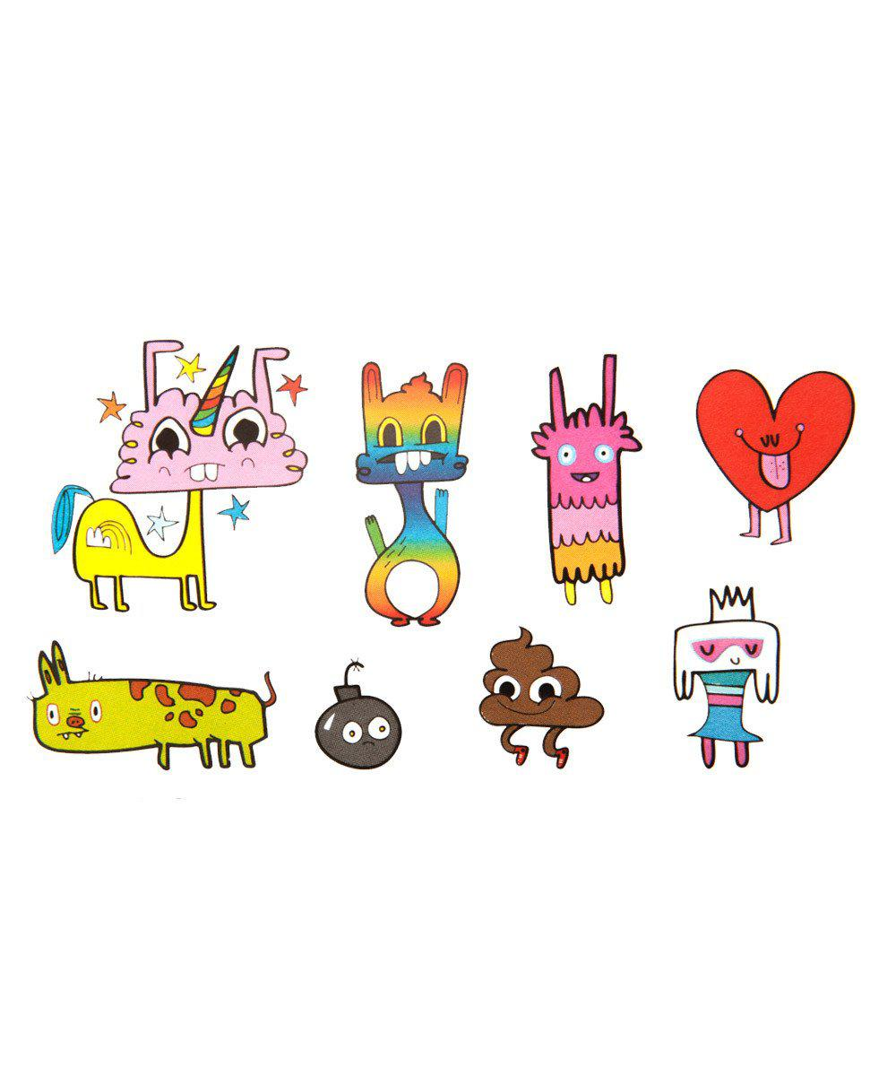 Temporary Tattoos: Happy Doodles Set