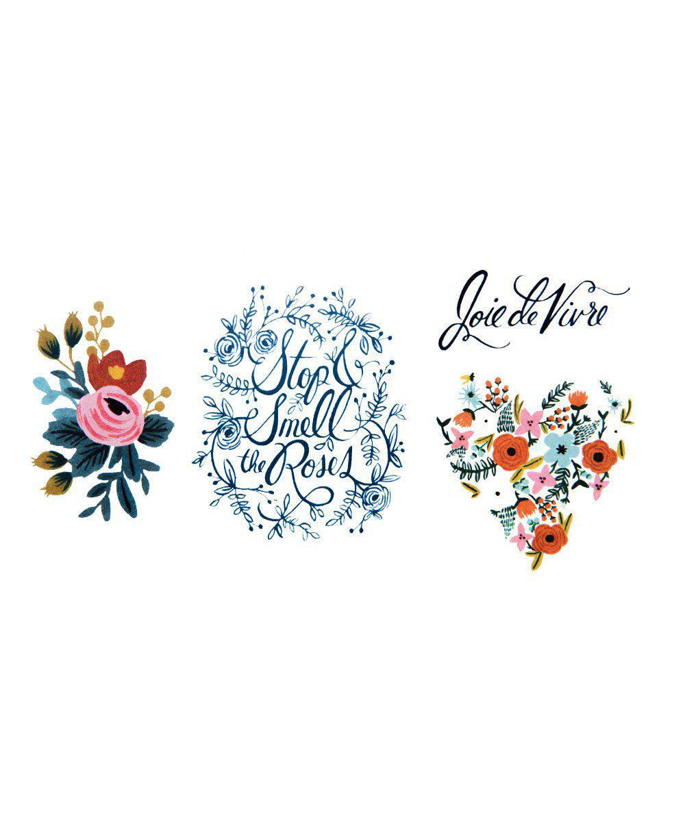 Temporary Tattoos: Floral Set