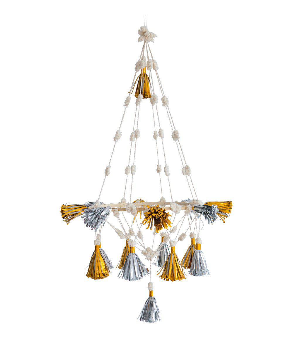 Folk Tassel Chandelier (Metallic)