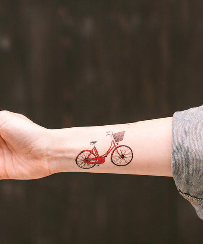 Temporary Tattoos: Red Bike