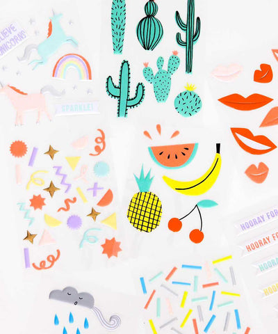 Puffy Fruit Stickers