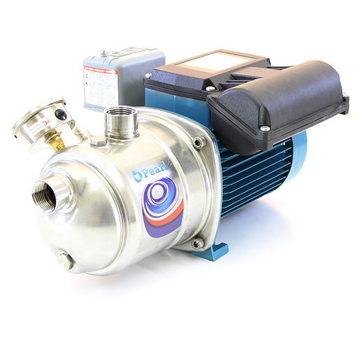 PEARL STAINLESS STEEL SHALLOW WELL SELF PRIMING JET PUMP DELUXE UPGRADE VERSION - JSC MODEL