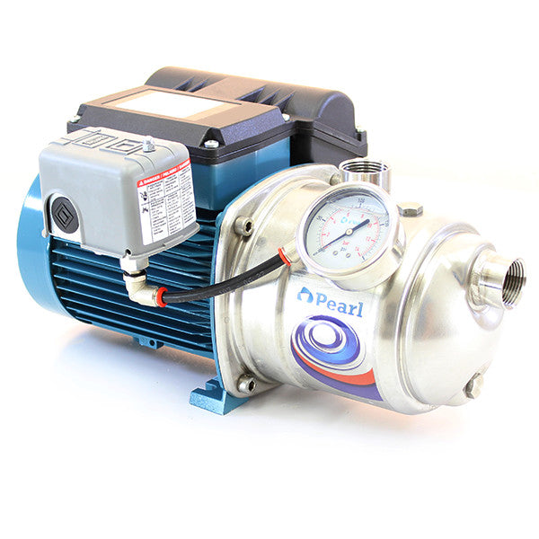PEARL STAINLESS STEEL SHALLOW WELL SELF PRIMING JET PUMP DELUXE UPGRADE VERSION - JSC MODEL  2