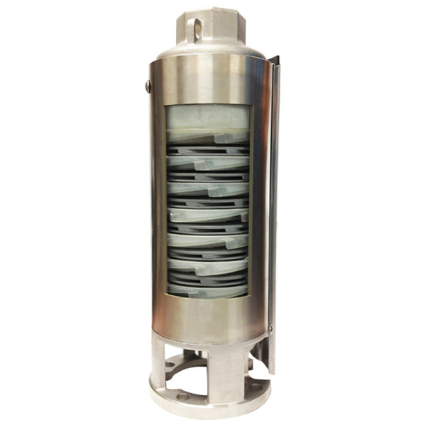 "PEARL 4"" SUBMERSIBLE WATER PUMP  - PUMP END ONLY - 4PWP - JUST EXTERNAL SLEEVE IN STAINLESS STEEL  2"